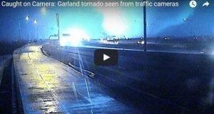 Garland tornado video