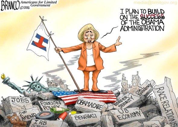 Obama's Rubble - A.F. Branco political cartoon
