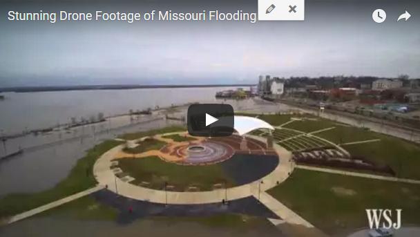 drone footage missouri floods