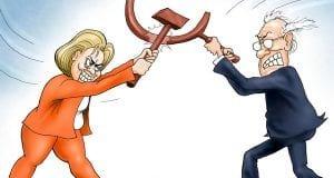 Comrades at War - Branco cartoon
