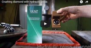 crushing a diamond with hydraulic press