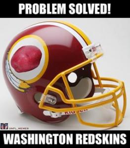 Redskins potato helmet