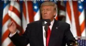 Donald Trump acceptance speech republican convention 2016