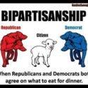 Bi-partisanship logo