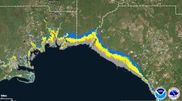 Hermine storm surge 8-31-16 1900