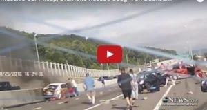 Massive crash on freeway and rescue