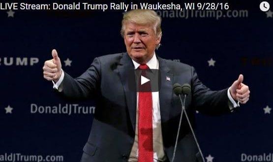 Donald Trump Rally in Waukesha, WI 9/28/16