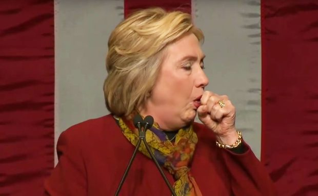 HIllary coughing