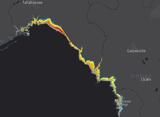 Hermine storm surge 9-1-16 1900