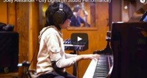 Joey Alexander playing City Lights in studio
