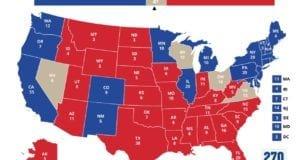 Presidential electoral map 2015 9-3-16