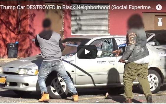 Photo of WATCH: Trump Car DESTROYED in Black Neighborhood