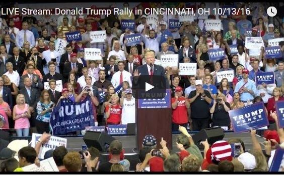 Photo of Full Event: Donald Trump Rally in CINCINNATI, OH 10/13/16 – 7:30pm ET