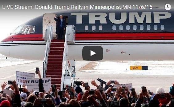 Photo of LIVE Stream: Donald Trump Rally in Minneapolis, MN 11/6/16 2pm CT