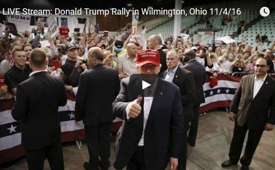 Photo of Full Event: Donald Trump Rally in Wilmington, Ohio 11/4/16