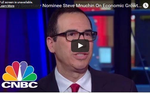 Photo of Treasury Secretary Nominee Steve Mnuchin On Economic Growth and Tax Reform