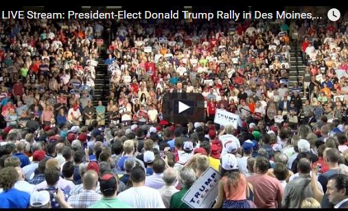 Donald Trump USA Thank You Tour Des Moines Iowa 12-08-16