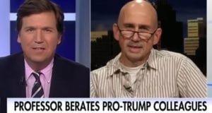 Tucker Carlson takes on Tony Macula match professor SUNY
