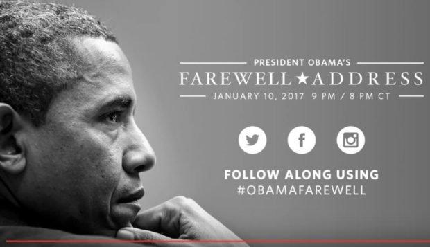 Photo of President Obama's Farewell Address [Live Stream]