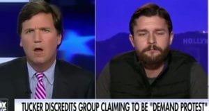 Tucker Carlson Demand Protest Dom Tullipso
