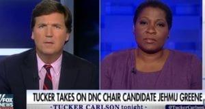 Tucker Carlson takes on Jehmu Greene on DNC racism