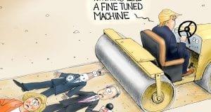 Fine Tuned Machine - A.F. Branco Political Cartoon