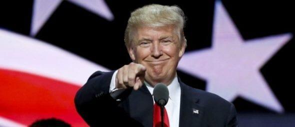 Smiling Trump