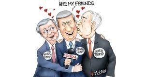 Third Rate Romance - A.F. Branco Political Cartoon