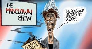 Broken News - A.F. Branco political cartoon