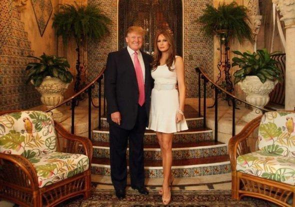 Donald and Melania Trump at Mar-a-Lago
