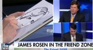 James Rosen sketch artist Tucker Carlson friend zone