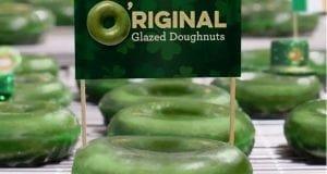 Krispy Creme green doughnuts for St. Patrick's day