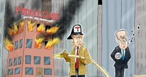 Saving The Middle Class - A.F. Branco political cartoon