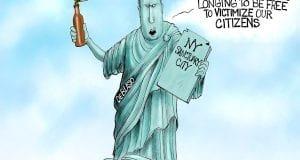 Statue Of Lunacy - A.F. Branco political cartoon