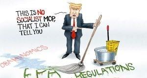 Cleanup On Aisle America - A.F. Branco political cartoon