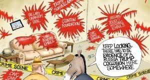 Crime Scene - A.F. Branco political cartoon