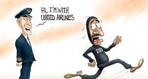 Fight or Flight - A.F. Branco political cartoon