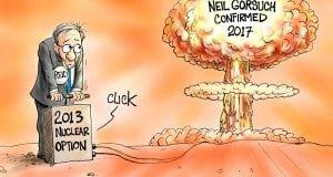 Nuclear Reaction - A.F. Branco political cartoon
