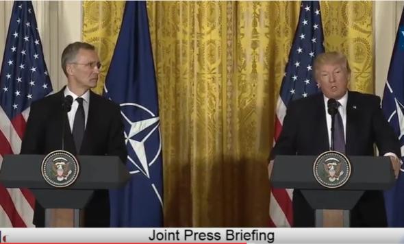President Trump and NATO Secretary General Jens Stoltenberg