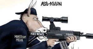 DNC Political Hitman - A.F. Branco political cartoon