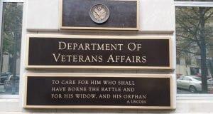 Department of Veterans Affairs sign
