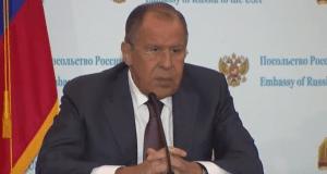 Sergey Lavrov news conference