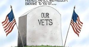 Thank you Veterans! - A.F. Branco political cartoon
