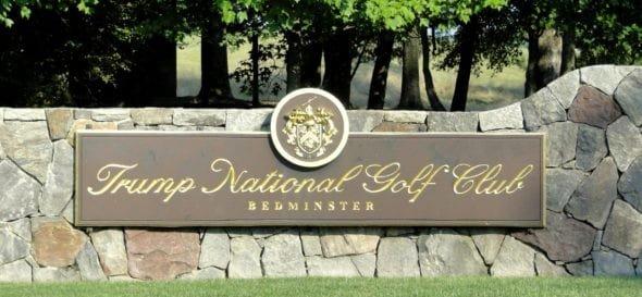 Trump National Golf Club Bedminster, New Jersey Sign