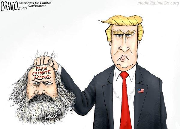 Cutting the Accord - A.F. Branco political cartoon