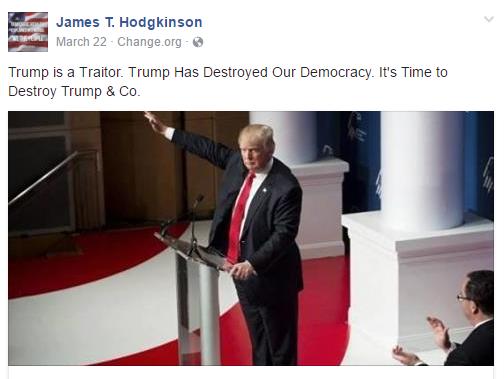 James T. Hodgkinson Facebook post