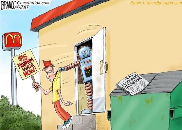 McAutomated - A.F. Branco political cartoon