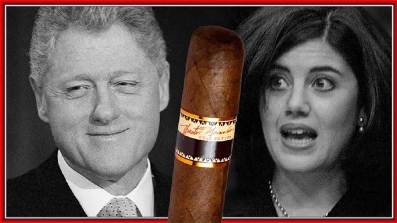 Bill Clinton And Monica Lewinsky Cigar