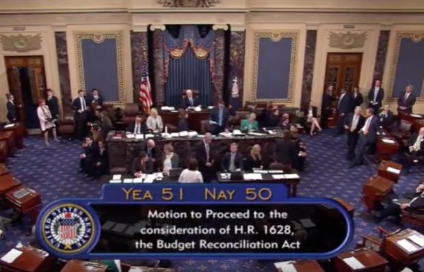 Photo of Senate votes to consider health care bill