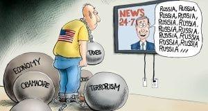 Feeling Heavy - A.F. Branco political cartoon